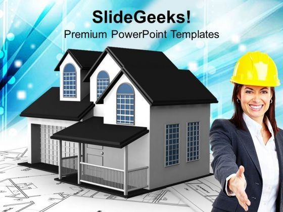 Home Plans Architecture PowerPoint Templates And PowerPoint Themes 1112