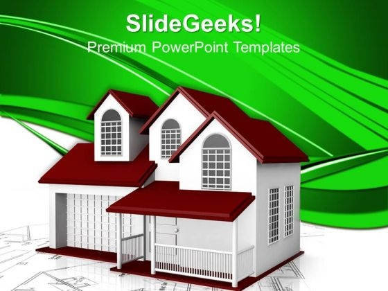 Home Plans Concept PowerPoint Templates And PowerPoint Themes 0912