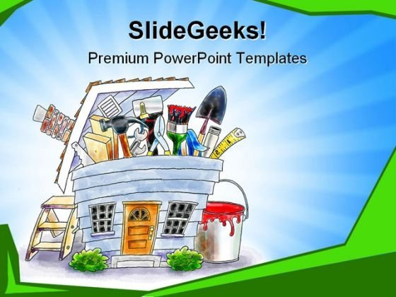 Home Project Construction PowerPoint Themes And PowerPoint Slides 0511