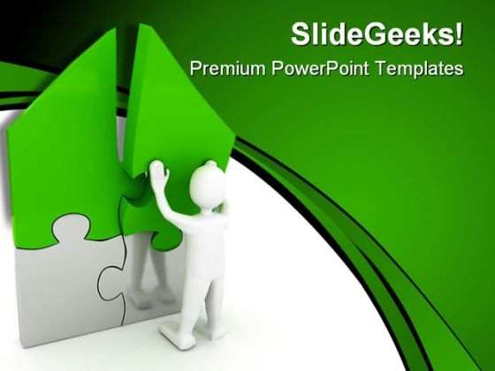 Home Puzzle Real Estate PowerPoint Templates And PowerPoint Backgrounds 0711