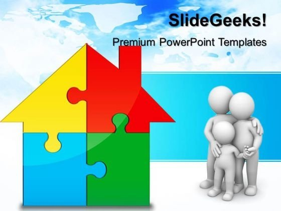 Home Puzzle Real Estate PowerPoint Templates And PowerPoint Themes 0412