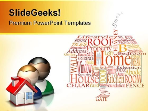 Home Real Estate PowerPoint Templates And PowerPoint Backgrounds 0711