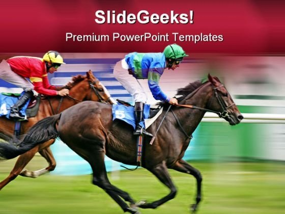 Horse Racing Competition Game PowerPoint Themes And PowerPoint Slides 0711