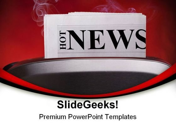 Hot News Advertising PowerPoint Templates And PowerPoint Backgrounds 0311