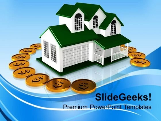 House And Money Finance PowerPoint Templates And PowerPoint Themes 1112