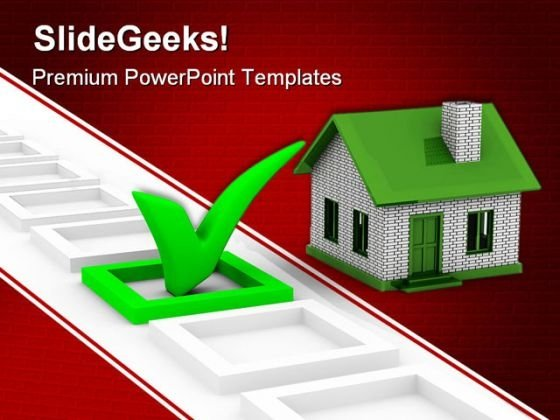 House Choice Real Estate PowerPoint Templates And PowerPoint Backgrounds 0611