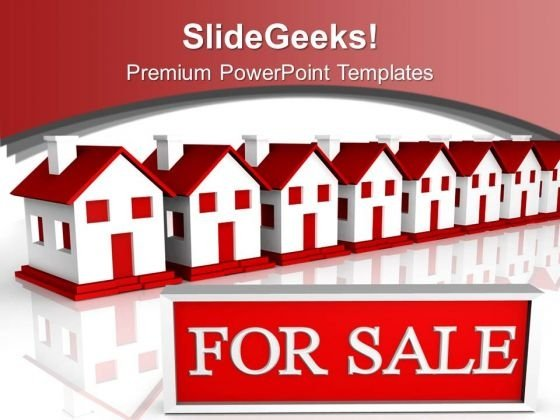 House For Sale Real Estate PowerPoint Templates Ppt Backgrounds For Slides 0113