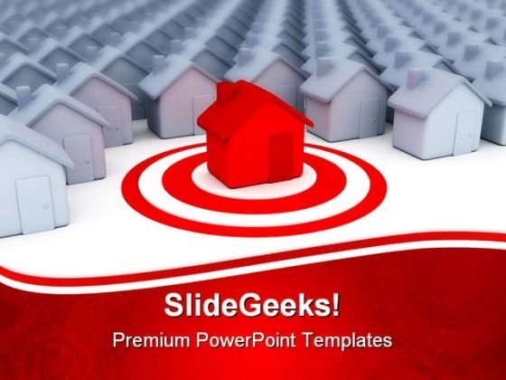Houses Business Real Estate PowerPoint Themes And PowerPoint Slides 0811