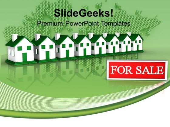 Houses For Sale Real Estate PowerPoint Templates And PowerPoint Themes 1112