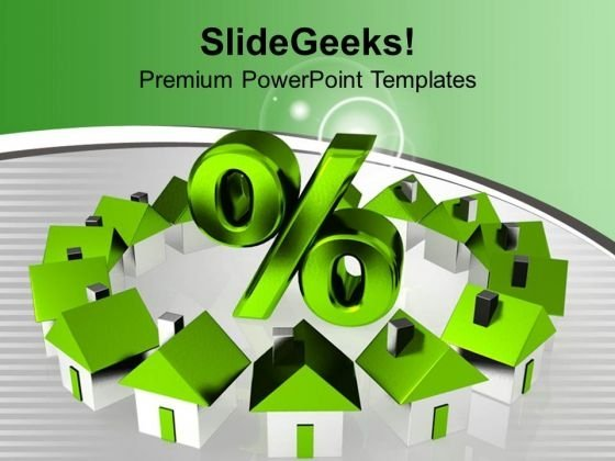 Houses On Discount Business PowerPoint Templates Ppt Backgrounds For Slides 0113
