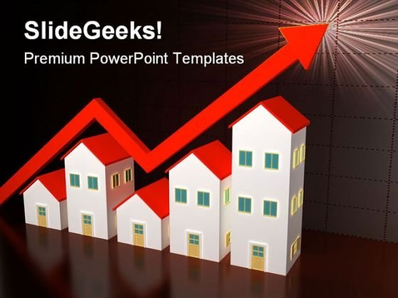 Houses On Sale Real Estate PowerPoint Templates And PowerPoint Backgrounds 0611