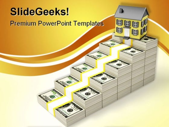 Houses Prices Rises Real Estate PowerPoint Themes And PowerPoint Slides 0411