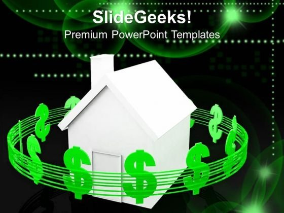 Housing Costs Dollars Business PowerPoint Templates And PowerPoint Themes 1012