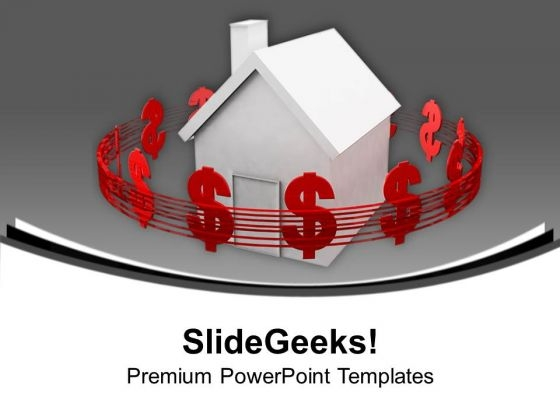 Housing Costs Dollars Real Estate PowerPoint Templates Ppt Backgrounds For Slides 1112