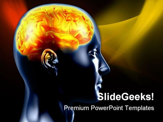 Human Brain02 Science PowerPoint Templates And PowerPoint Backgrounds 0711
