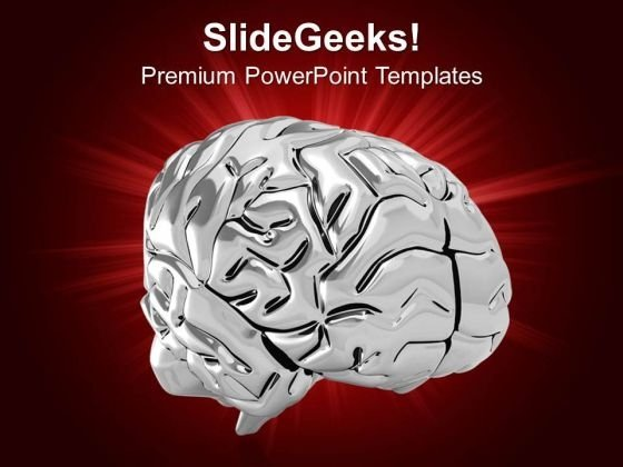 Human Brain Design Medical Theme PowerPoint Templates Ppt Backgrounds For Slides 0413