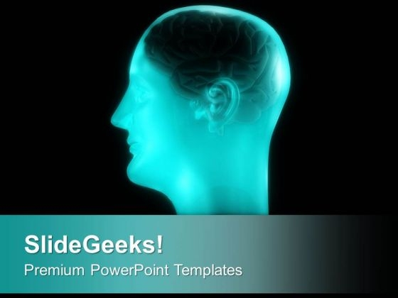 Human Brain Generates Thoughts PowerPoint Templates Ppt Backgrounds For Slides 0613