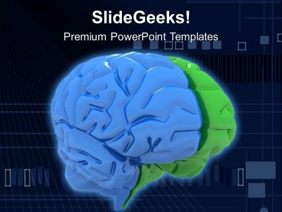Human Brain Health Theme PowerPoint Templates Ppt Backgrounds For Slides 0513