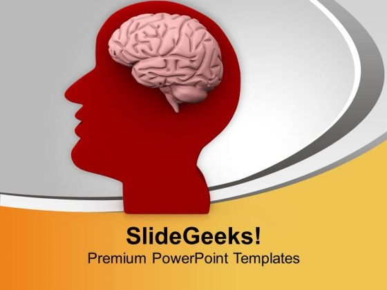 Human Brain Is Best Part In Body PowerPoint Templates Ppt Backgrounds For Slides 0613