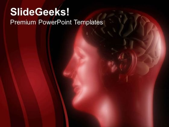 Human Brain Is Energy House Of Body PowerPoint Templates Ppt Backgrounds For Slides 0613
