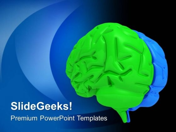 Human Brain Is Great Example Of Intelligence PowerPoint Templates Ppt Backgrounds For Slides 0613