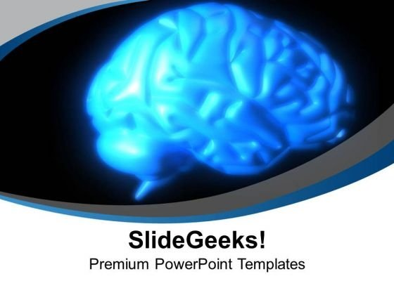 Human Brain Medical Theme PowerPoint Templates Ppt Backgrounds For Slides 0513