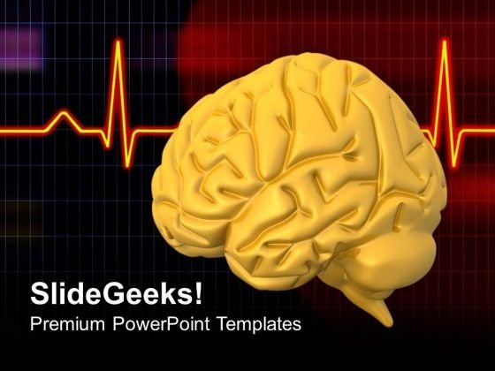 Human Brain With Eeg PowerPoint Templates Ppt Backgrounds For Slides 0713