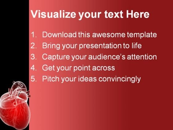 Human Heart Medical Powerpoint Template 0610 Powerpoint Themes