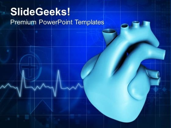 Human Heart PowerPoint Templates Ppt Backgrounds For Slides 0413