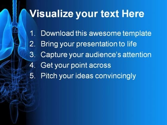 human_lungs01_medical_powerpoint_template_0610_text