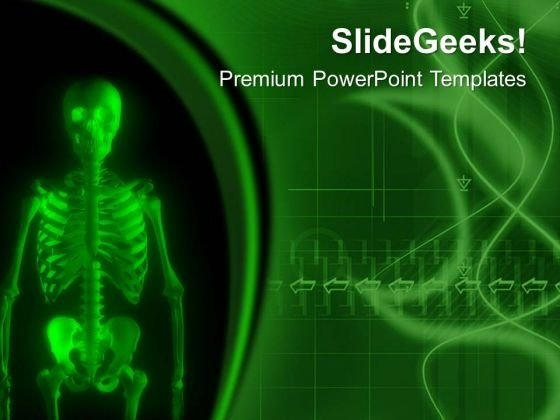 Human Skeleton For Medical Science PowerPoint Templates Ppt Backgrounds For Slides 0613