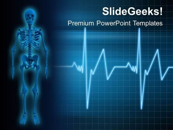 Human Skeleton Medical PowerPoint Templates Ppt Backgrounds For Slides 0813