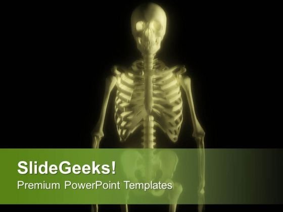 Human Skeleton Stock Illustration PowerPoint Templates Ppt Backgrounds For Slides 0713