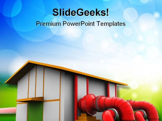 Hydroelectric Plant Industrial PowerPoint Templates And PowerPoint Backgrounds 0211