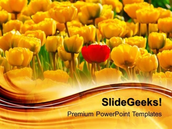 I Am Different Flowers Garden PowerPoint Templates And PowerPoint Themes 0512