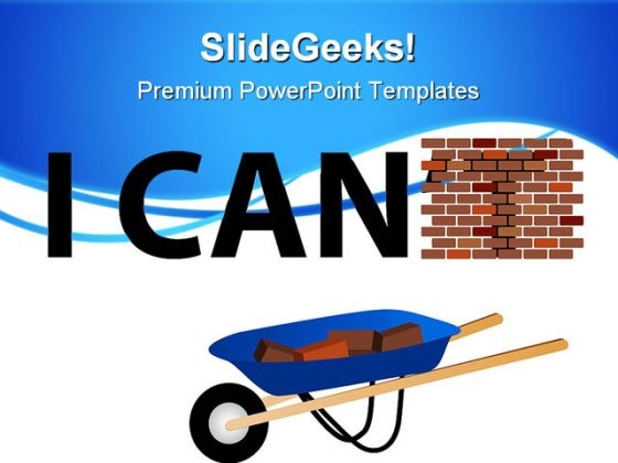 I Can Construction PowerPoint Templates And PowerPoint Backgrounds 0811