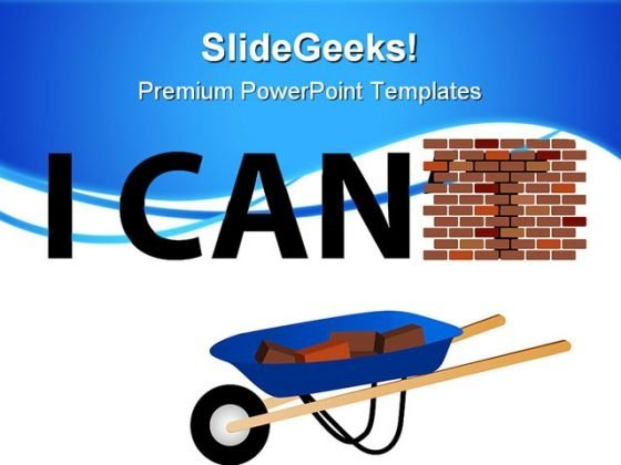 I Can Construction PowerPoint Themes And PowerPoint Slides 0811