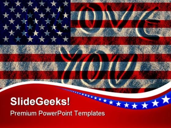I Love Americana PowerPoint Themes And PowerPoint Slides 0811