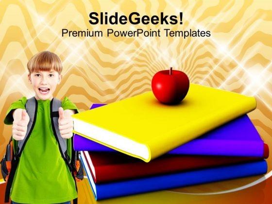 I Love Books Children PowerPoint Templates Ppt Backgrounds For Slides 1212