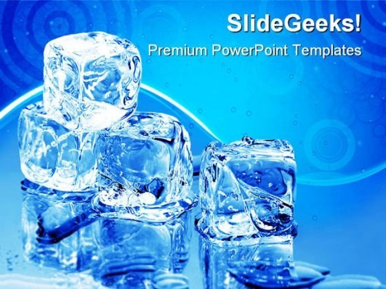 Ice Cubes Lifestyle PowerPoint Themes And PowerPoint Slides 0511
