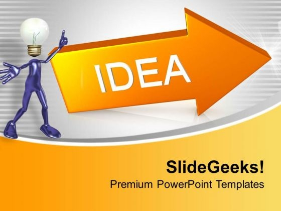 Idea Arrow Business Innovation PowerPoint Templates Ppt Backgrounds For Slides 0313
