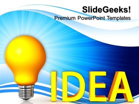 Idea Bulb Business PowerPoint Templates And PowerPoint Themes 0812