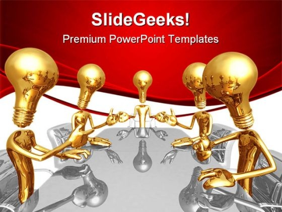 Idea Meeting Business PowerPoint Templates And PowerPoint Backgrounds 0611
