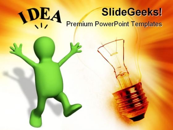 Idea People PowerPoint Template 1110