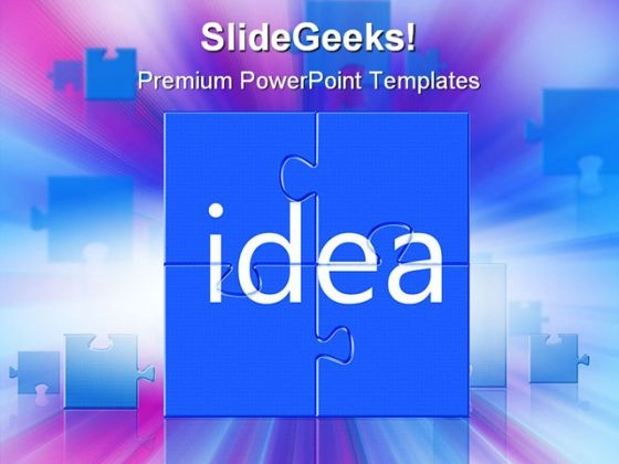 Idea Shapes Metaphor PowerPoint Backgrounds And Templates 0111
