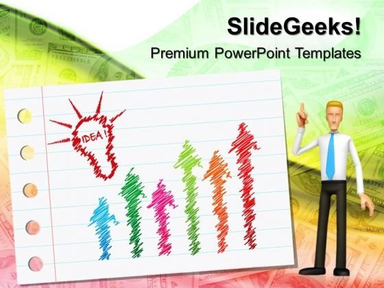 Idea To Growth Business PowerPoint Templates And PowerPoint Themes 0512