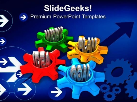 Idea Work Plan Goal Gearwheels PowerPoint Templates And PowerPoint Themes 0912