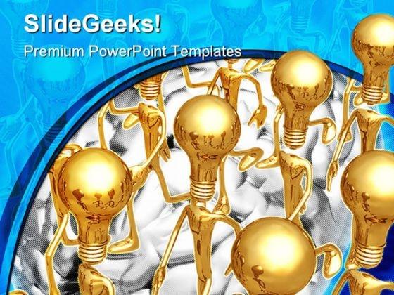 Ideas Business PowerPoint Template 1110