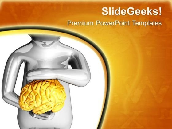 Illustration Of A Human Brain PowerPoint Templates Ppt Backgrounds For Slides 0713