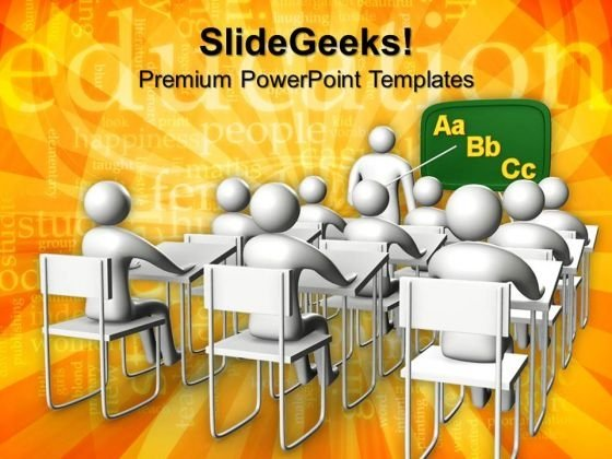 Illustration Of Classroom Education PowerPoint Templates And PowerPoint Themes 1012
